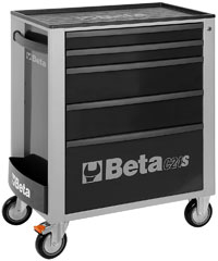 Click for a larger picture of Beta C24S/5-G Roller Tool Cabinet, Grey - Ships Truck