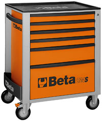 Click for a larger picture of Beta C24S/6-O Roller Tool Cabinet, Orange - Ships Truck