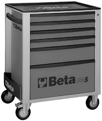 Click for a larger picture of Beta C24S/6-G Roller Tool Cabinet, Grey - Ships Truck