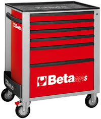 Click for a larger picture of Beta C24S/6-R Roller Tool Cabinet, Red - Ships Truck