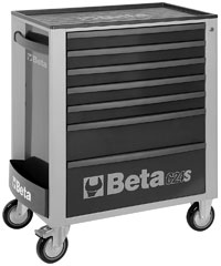 Click for a larger picture of Beta C24S/7-G Roller Tool Cabinet, Grey - Ships Truck