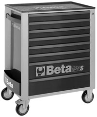 Click for a larger picture of Beta C24S/8-G Roller Tool Cabinet, Grey - Ships Truck