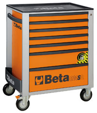 Click for a larger picture of Beta C24SA/7-O Roller Cab w/ Anti-Tilt, Orange - Ships Truck