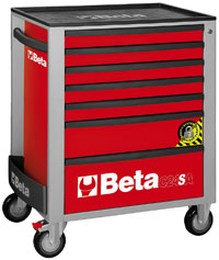 Click for a larger picture of Beta C24SA/7-R Roller Cab w/ Anti-Tilt, Red - Ships Truck