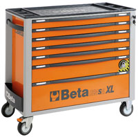 Click for a larger picture of C24SA-XL/7 Roller Tool Cab, Wide Drawer, Orange: Ships Truck