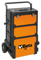 Click for a larger picture of Beta Tools C42H Three-Module Tool Trolley, Deep / High