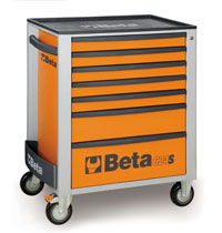 Click for a larger picture of Beta C24S/7-O Roller Tool Cabinet, Orange - Ships Truck