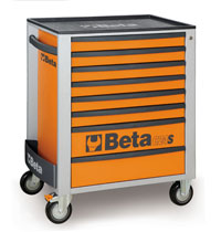 Click for a larger picture of Beta C24S/8-O Roller Tool Cabinet, Orange - Ships Truck