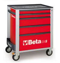 Click for a larger picture of Beta C24S/5-R Roller Tool Cabinet, Red - Ships Truck
