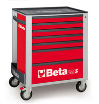 Click for a larger picture of Beta C24S/7-R Roller Tool Cabinet, Red - Ships Truck
