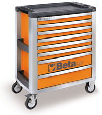 Click for a larger picture of Beta Tools C39/8-O Roller Tool Cabinet, Orange - Ships Truck