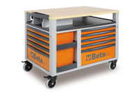 Click for a larger picture of C28 Super Tank 10-Drawer Mobile Workstation - Ships by Truck