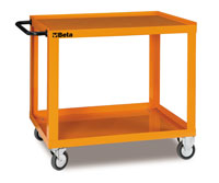 Click for a larger picture of Beta Tools CP52-G Welded 2-Shelf Shop Cart, Grey