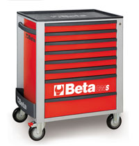 Click for a larger picture of Beta C24S/8-R Roller Tool Cabinet, Red - Ships Truck