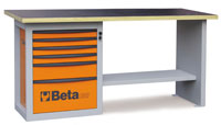 Click for a larger picture of Beta C59A/G Endurance 6-Drawer Workbench, Grey - Ships Truck