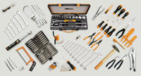Click for a larger picture of Beta 4100S/SBK C41S Low Trolley + 133 Pc Motorcycle Tool Set