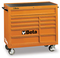 Click for a larger picture of Beta C38-G 11-Drawer Roller Tool Cabinet, Grey - Ships Truck