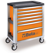 Click for a larger picture of Beta Tools C39/7-G Roller Tool Cabinet, Grey - Ships Truck