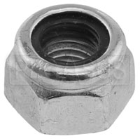 Click for a larger picture of 1/4-28 General Duty Nylon Insert Lock Nut