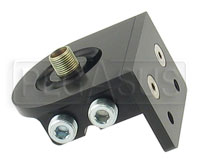 Click for a larger picture of Remote Filter Head, Dual Horizontal Ports, Billet Aluminum