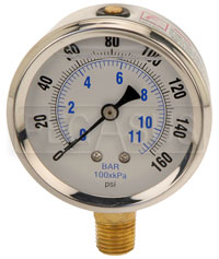 Click for a larger picture of Liquid Filled Pressure Gauge for Accusump