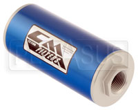 Click for a larger picture of Canton 6 inch Inline Oil Filter, 8 Micron, -12 O-Ring Ports