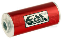 Click for a larger picture of Canton 6 inch Inline Fuel Filter, 8 Micron, -12 O-Ring Ports