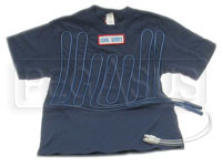 Click for a larger picture of Cotton Cool Shirt, Blue, Short Sleeve