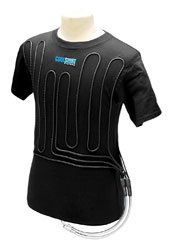 Click for a larger picture of Cotton Cool Water Shirt, Black, Short Sleeve