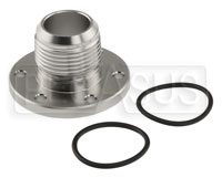 Click for a larger picture of Davies Craig 6-Bolt Flange Adapter to 16AN Male, Alloy