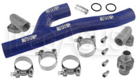 Click for a larger picture of Davies Craig EWP Header Adapter Kit Blue (Big Block Chevy)