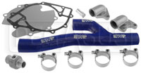 Click for a larger picture of Davies Craig EWP Header Adapter Kit Blue (Big Block Ford)