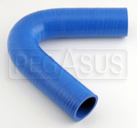 "Click for a larger picture of Blue Silicone Hose, 1 5/8"" I.D. 135 degree, 4""  Legs"