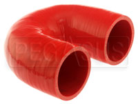 "Click for a larger picture of Red Silicone Hose, 2 3/8"" I.D. 180 degree Elbow, 4"" Legs"