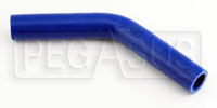 "Click for a larger picture of Blue Silicone Hose, 3/4"" I.D.  45 degree, 4""  Legs"