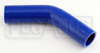 "Click for a larger picture of Blue Silicone Hose, 1 3/8""  I.D.  45 degree, 4""  Legs"