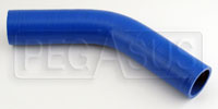"Click for a larger picture of Blue Silicone Hose, 1 5/8"" I.D.  45 degree, 4""  Legs"