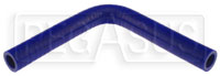 "Click for a larger picture of Blue Silicone Hose, 1/2"" I.D. 90 degree Elbow, 6"" Legs"