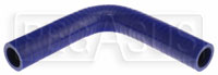 "Click for a larger picture of Blue Silicone Hose, 1 1/8"" I.D. 90 degree Elbow, 6"" Legs"