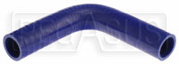 "Click for a larger picture of Blue Silicone Hose, 1 3/8"" I.D. 90 degree Elbow, 6"" Legs"