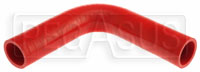 "Click for a larger picture of Red Silicone Hose, 1 3/8"" I.D. 90 degree Elbow, 6"" Legs"