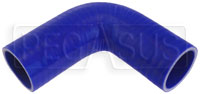 """Click for a larger picture of Blue Silicone Hose, 1 5/8"""" I.D. 90 degree Elbow, 4"""" Legs"""
