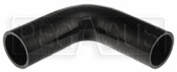 """Click for a larger picture of Black Silicone Hose, 2 1/8"""" I.D. 90 degree Elbow, 6"""" Legs"""