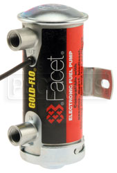 Click for a larger picture of Facet Cylindrical Style 12 Volt Fuel Pump, 4 to 5.5 max psi