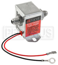 Click for a larger picture of Facet Cube 12v Fuel Pump, 6 AN, 4.5-6 psi