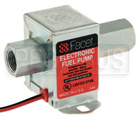 Click for a larger picture of Facet Cube Style 12 Volt Fuel Pump, 4 to 7 max psi, 3/8 NPT