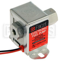 Click for a larger picture of Facet Cube Style 12 Volt Fuel Pump, 4.5 to 6 max psi