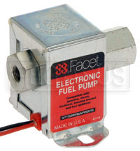 Click for a larger picture of Facet Cube Style 12 Volt Fuel Pump, 1.5 to 2.5 max psi