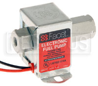 Click for a larger picture of Facet Cube Style 12 volt Fuel Pump, 3.5 to 5 max psi