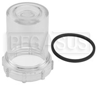 Click for a larger picture of Facet Dura-Lift Replacement Clear Filter Bowl and Gasket Kit